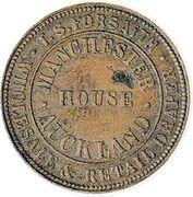 ½ penny (Forsaith, T. S. - Auckland) – avers
