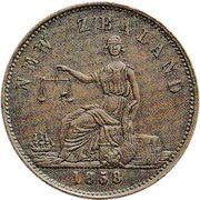 ½ penny (Forsaith, T. S. - Auckland) – revers