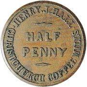 ½ Penny (Hall, Henry J. - Christchurch) – avers