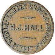 ½ Penny (Hall, Henry J. - Christchurch) – revers