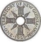 1 penny - George V (essai) – revers