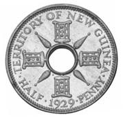 ½ penny - George V (essai) – revers
