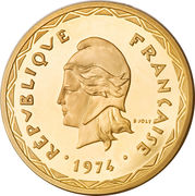 100 Francs (Piéfort or) – avers