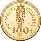 100 Francs (Piéfort or) – revers