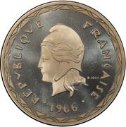 100 francs (Piéfort) – avers