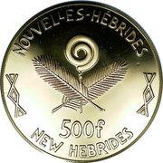 500 francs (Année internationale de l'enfance) – avers
