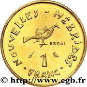 1 franc (essai) – revers