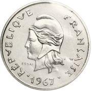 10 francs (essai) – avers