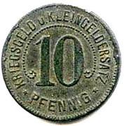 10 pfennig - Nürtingen – revers