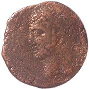 Semis Syphax (Numidie occidentale ; petite barbe, cavalier vers la gauche) – avers