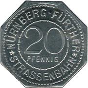 20 pfennig - Nassauer Haus (Nürnberg-Fürth) – avers