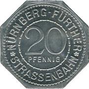 20 pfennig - Rathaus (Nürnberg-Fürth) – avers