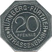 20 pfennig - Neptun-Brunnen (Nürnberg-Fürth) – avers
