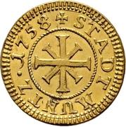 1 Kreuzer (Gold pattern strike) – revers