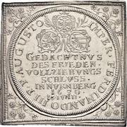 ½ Thaler (Klippe; Peace of Westphalia) – avers