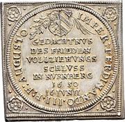 ¼ Thaler (Klippe; Peace of Westphalia) – avers
