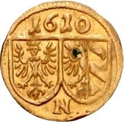1 Pfennig (Gold pattern strike) – avers