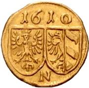 1 Pfennig (Gold pattern strike) – revers