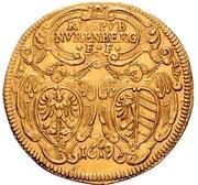 2 Goldgulden (Gold pattern strike; Town hall) – avers