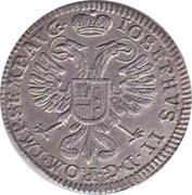 2½ kreuzer Josef II – revers