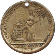 Jeton (Commemorating 1 Nurnberg thaler 1763) – avers