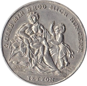Medal at the 1816/1817 famine – avers