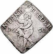 ⅛ thaler (Klippe; Paix de Westphalie) – avers