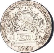 20 kreuzer François I de Lorraine – avers