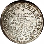 4 Kreuzer - Franz – avers