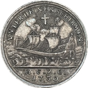 ½ ducat (Frappe d'essai argent) – revers