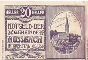 20 Heller (Nussbach im Kremstal) -  avers