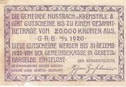 20 Heller (Nussbach im Kremstal) -  revers