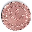 3 Centavos (Provisional Government) – revers