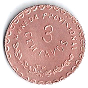 3 Centavos (Provisional Government) – revers