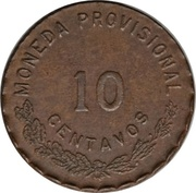 10 Centavos (Provisional Government) – revers