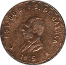 10 centavos - Oaxaca – avers