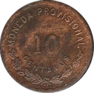10 centavos - Oaxaca – revers