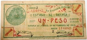 1 Peso ESTADO DE OAXACA – avers