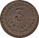 3 centavos – revers