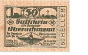 50 Heller (Oberachmann) -  avers