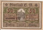50 Pfennig (Oberlind) – avers