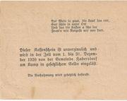 20 Heller (Oberweissenbach und Bernhardschlag) -  revers