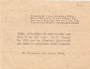 50 Heller (Oberweissenbach und Bernhardschlag) -  revers