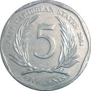 5 cents Elizabeth II (4e effigie, 1er type) – revers