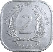2 cents Elizabeth II (2e effigie) – revers