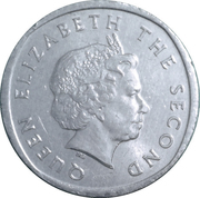 2 cents Elizabeth II (4e effigie, 1er type) – avers