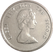 10 cents Elizabeth II (2e effigie) – avers