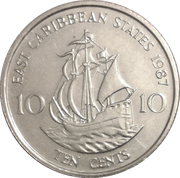 10 cents Elizabeth II (2e effigie) – revers