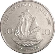 10 cents Elizabeth II (4e effigie) – revers