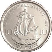 10 cents Elizabeth II (4e effigie, magnétique) – revers